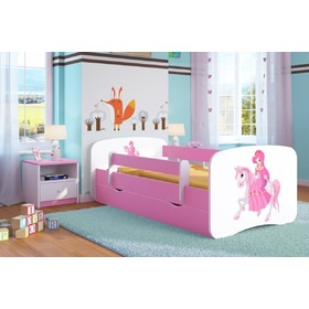 Ourbaby Children's Bed with Safety Rail - Princess on Horse