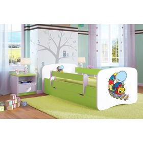 Ourbaby Children's Bed with Safety Rail - Happy Train