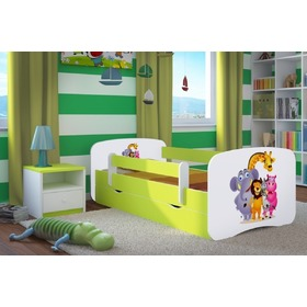 Ourbaby Children's Bed with Safety Rail - ZOO II, Ourbaby