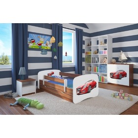 Ourbaby Children's Bed with Safety Rail - Sports Car