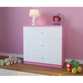 Ourbaby children's chest of drawers - pink-white, Ourbaby