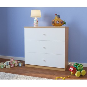 Ourbaby children's chest of drawers - beech -white