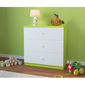 Ourbaby children's chest of drawers- green-white