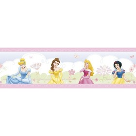 Princess Wallpaper Border, Decofun, Princess