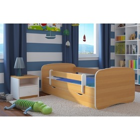 Ourbaby Children's Bed with Safety Rail - Beech