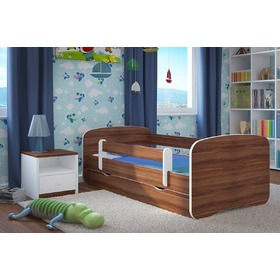 Ourbaby Children's Bed with Safety Rail - Light Walnut, Ourbaby