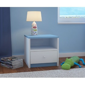 Ourbaby children night stand - blue-white