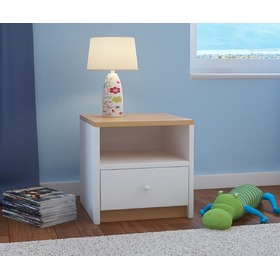 Ourbaby children nightstand - beech and white, Ourbaby