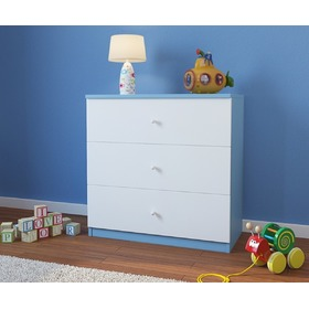 Ourbaby children's drawer - white-blue
