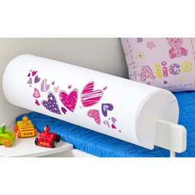Children's Safety Rail Protector - Hearts, Mint Kitten