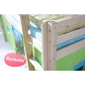 Children's raised bed Ourbaby Modo - pine