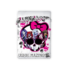 Monster High I Children's Bed Throw + FREE Monster High Cushion