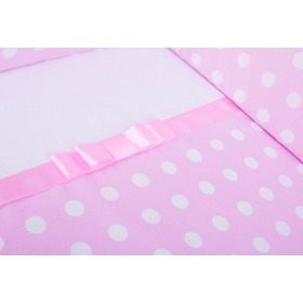 Linen Grace with bow 120x90 cm - pink, Gluck Baby