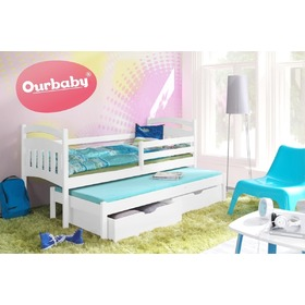 Ourbaby children's bed with bed Marco I - White, Ourbaby