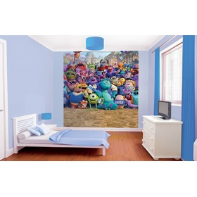 8-Panel Children's Wall Mural - Monsters University, Walltastic, Monsters University