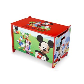 Mickey Mouse Children's Wooden Toy Chest, Delta, Mickey Mouse