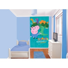 George Pig 6-Panel Children's Wall Mural, Walltastic, Peppa pig