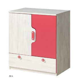 Chest of Drawers Nuki - raspberry, Dolmar