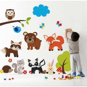 Wall Decoration - Teddy Bear and Animals, Housedecor