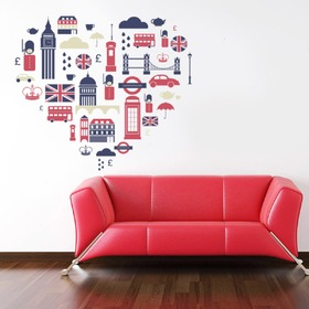 Wall Decoration - English Heart, Housedecor
