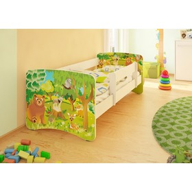 Children's Bed with Safety Rail - Forest