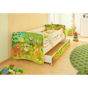 Children's Bed with Safety Rail - Forest, Spokojny Sen