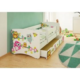 Children's Bed with Safety Rail - Owls, Spokojny Sen