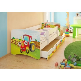 Children's Bed with Safety Rail - Little Tractor, Spokojny Sen