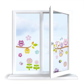 Stickers to window - Owlet - 0,3 m2
