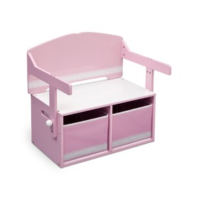 Children's Bench with Storage Space - Pink