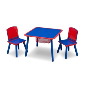 Children's Table with Chairs - Blue and Red
