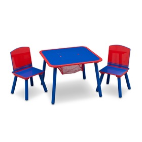 Children's Table with Chairs - Blue and Red, Delta