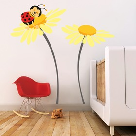 Deluxe Wall Decoration - Ladybird on Flower
