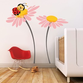 Deluxe Wall Decoration - Ladybird on Flower, Housedecor