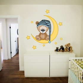 Deluxe Wall Decoration - Sleepy Bear, Housedecor