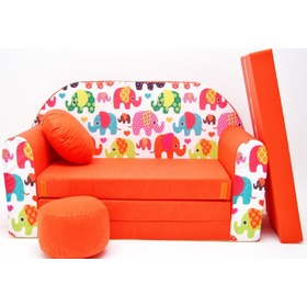 Kids' sofa Elephants - Orange