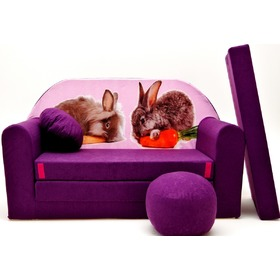 Kids' sofa Bunnies - purple, Welox
