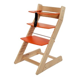 UNIZE Children's Growing Chair - Orange, Wood Partner