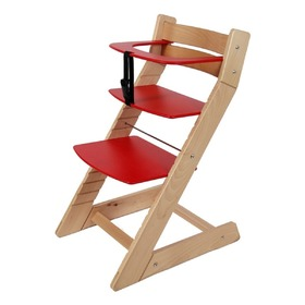 UNIZE Children's Growing Chair - Red, Wood Partner