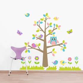 Wall Decoration - Colourful Tree and Animals