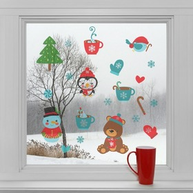 Christmas decoration to window - Christmas tranquility