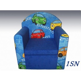 Blue Children's Armchair - Cars, Eland