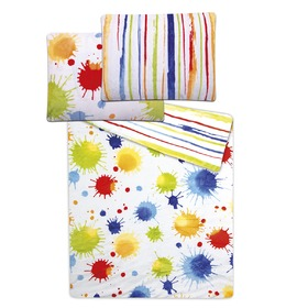 Micro Flannel Children's Bedding Set - WATERCOLOURS, sleepwell