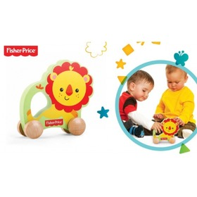 Fisher Price Wooden Rolling Lion