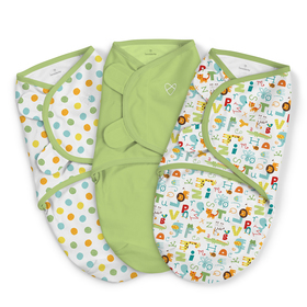 Wrap SwaddleMe - set 3 pc - Alfabet - green, Summer Infant