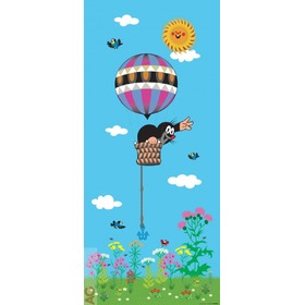 The Mole and Hot Air Balloon Children's Wall Mural