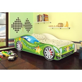 Ourbaby children's bed Matchbox green + mattress free