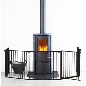 Fireplace barrier Baby Dan FLEX XL - black, Scandinavian baby