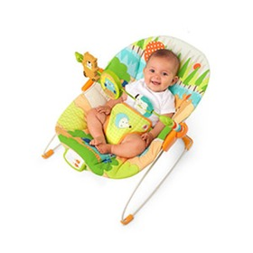 Bright Starts mat Camp-bed vibratory with melodies Little Explorer, Brightstarts