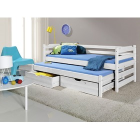 Sam Children's Trundle Bed - White, Meblobed